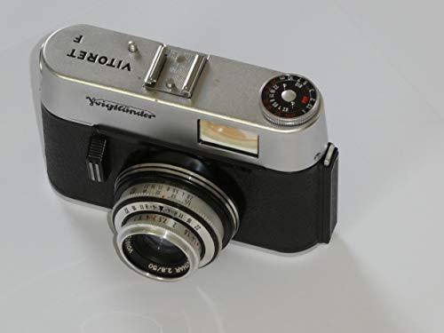 Tecnología de fotografía de LLL 35 mm Cámara Voigtländer VITORET F + Objetivo Voigtländer Color-LANTHAR 2.8/50 Cierre PRONTOR 125 año de fabricación 1963-1969.