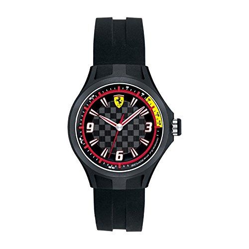 Ferrari - 820001 - Montre Homme - Quartz Analogique - Cadran Noir - Bracelet Silicone Noir