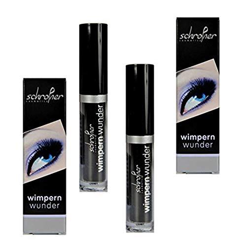 Wimpernserum, Schrofner Wimpernwunder - Eyelash Serum für lange, dichte Wimpern/Augenbrauen (2 x 6ml)