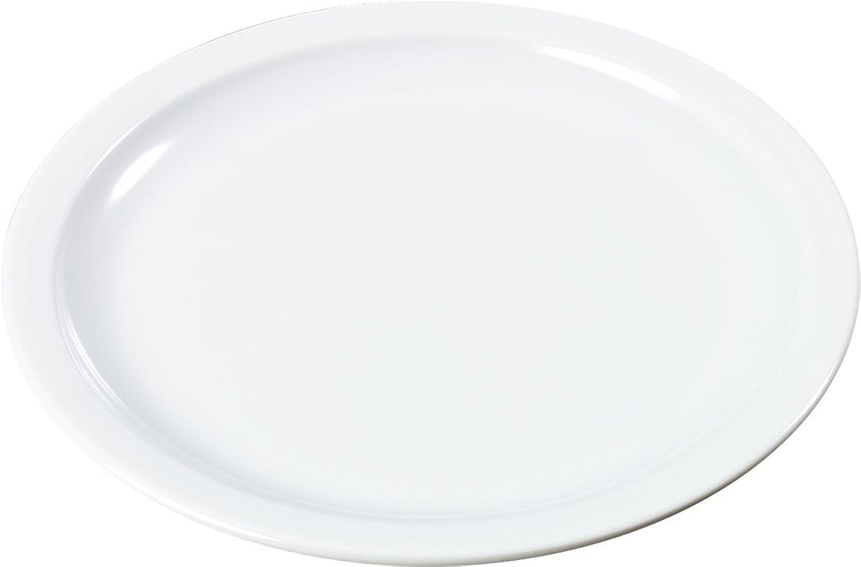 Carlisle KL20102 Kingline Melamine Sandwich Plate, 7-7 32  Diameter x 0.74  Height, White (Case of 48)