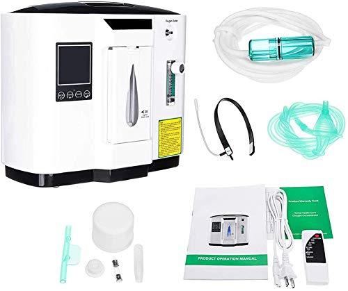 FEDYS Concentratore di Ossigeno per Casa Professionale Respiratore Ossigeno,1-6L / Min Regolabile Oxygen Concentrator Lavoro Silenzioso,può Fornire 2 Persone