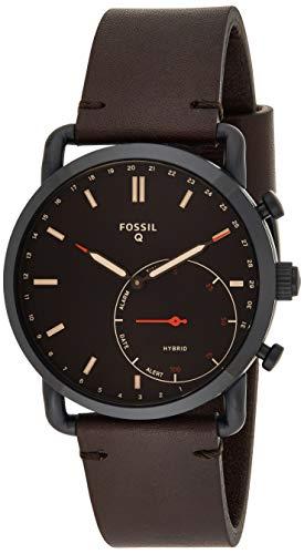 Fossil Herren Hybrid Smartwatch Commuter Leder Dunkelbraun FTW1149
