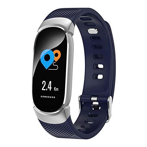 ZGNB QW16 Pulsera Inteligente Impermeable, Pulsera Inteligente, Rastreador De Ritmo Cardíaco Rastreador De La Presión Arterial Reloj Inteligente, Adecuado para Android iOS,C