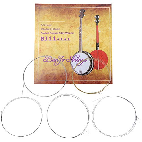 Cuerdas de banjo de HelloCreate, juego de 5 cuerdas de banjo de alta calidad, aleación de cobre, accesorios para instrumentos de música