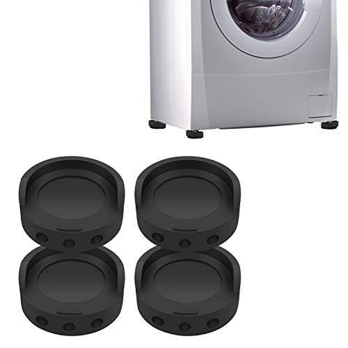 Hion Schwingungsdämpfer für Waschmaschinen,Waschmaschinenunterlage Vibrationsdämpfer Antivibrationsmatte GummiFüße für Waschmaschine & Trockner,Universal Waschmaschinenzubehör Untergestell 4 Stück