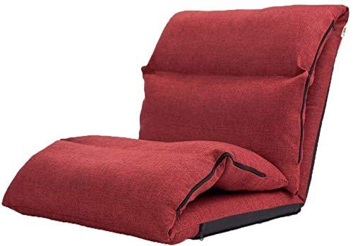 Hauptsitz in Sol De Boden Stuhl Klappstuhl Thick Erkerfenster Kreative Salon De Meditation Vom Stuhl, Multi-Wahl (Color : Deep red)