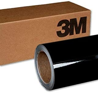 3M 2080 G12 Gloss Black 5ft x 10ft (50 Sq/ft) Car Wrap Vinyl Film