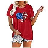 YANFANG Camiseta Corta con Cuello Redondo y Estampado de Mariposas a la Moda para Mujer, Blusa Suelta, Camisa...