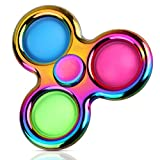 Aemotoy Simple Dimple Fidget Spinner Toy Push Bubble Fidget Sensory Toys Stress Relief Reducer for Adults Children High Speed Bearing Metal Material Hand Spinner Finger Toy for ADD ADHD or Autism