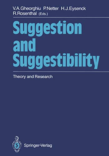 Suggestion and Suggestibility: Theory and Research (English Edition)