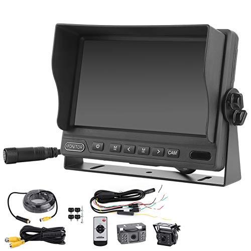 Sistema de cámara de respaldo, monitor DVR IPS de 7 pulgadas, vista frontal trasera, sistema de cámara de respaldo AHD 1080P para camión, furgoneta, autobús