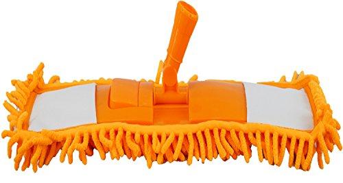 Vanille INC Microfaser Boden Nudeln Mop Head Duster mit einem Externder Sweeper Holz Tile Wet Dry 40* 12cm Orange