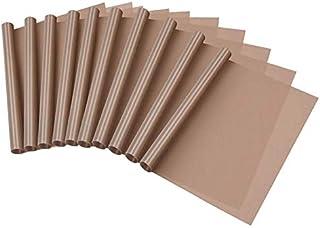 ACAMPTAR Paquet de 10 Feuilles de TéFlon pour Tapis Chauffants Non-AdhéSifs 40 X 60 Cm