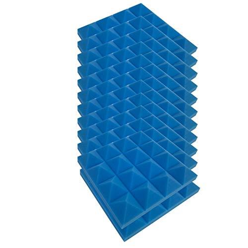 YUWEX 12 Stück Akustikschaumstoff Akustikplatten Pyramiden Akustikplatten DIY Wandbild Aufkleber Wandkunst akustikplatten selbstklebend für Arbeitszimmer, Klavierraum,Party, KTV, Heimstudio 25x25x5cm