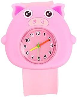 Julymoda Cute Cartoon Children Kid Quartz Sports Bendable Rubber Strap Wrist Watch