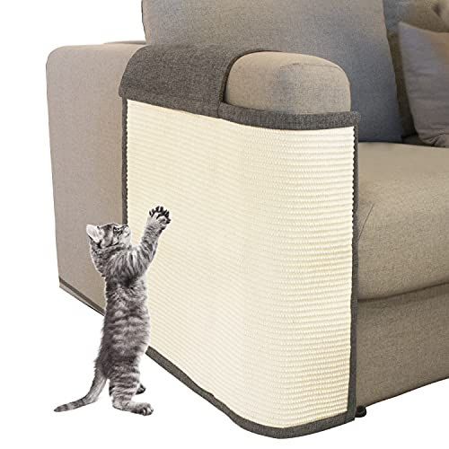 Cat Scratch Furniture Couch Protector with Natural Sisal for Protecting Couch Sofa Chair (Right Hand)
