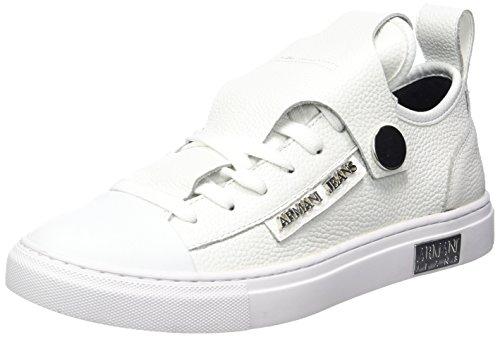 Armani Jeans Damen Bassa Sneaker, Weiß (Offwhite), 41 EU