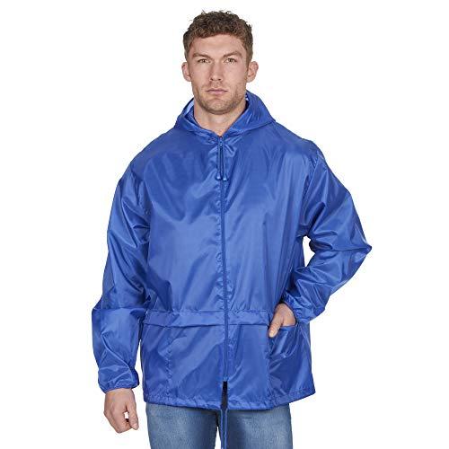 Regenjacke, unisex, mit Kapuze, für Erwachsene Gr. X-Large, blau