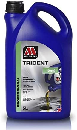 MILLERS ENGINE OIL TRIDENT 10W40 SEMI SYNTHETIC LITRE 5991GO