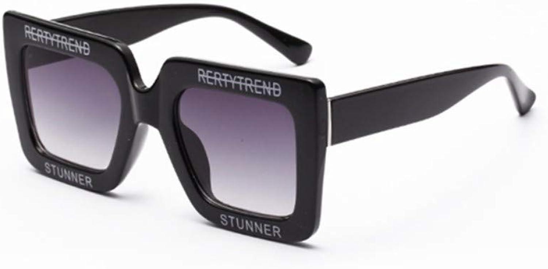 Fuqiuwei Sonnenbrillen Simple And Versatile Retro White Sunglasses Female Retro Sunglasses Female