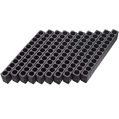 10PCS 12 Holes Hex Bit Organiser Plastic Screwdriver Bit Holder Drill Head Storage Case Box Block for 6.35MM Hex Shank Bits