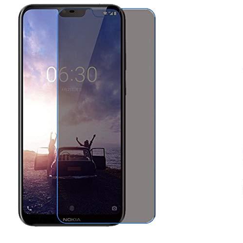 CQBKLXJY Protector de Pantalla de privacidad Compatible con Nokia X6 2018 7 Plus Película Protectora de Vidrio Templado antiespía Negro 9H Compatible con Nokia 6.1 Plus-Nokia_6.1_Plus_2018 [3-Pack]