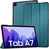EasyAcc Hülle Kompatibel mit Samsung Galaxy Tab A7 10.4 2020 SM-T500 T505 T507, Ultra Dünn Smart Schutzhülle mit Standfunktion mit Auto Sleep Wake Up Funktion Slim PU Leder Pfauenblau