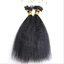 Hesperis Micro Loop Hair Extensions Brazilian Remy Virgin Hair Kinky Straight 100g Per Pack Human Hair Coarse Straight Micro Rings Hair Extensions 1g/strand (14inch)