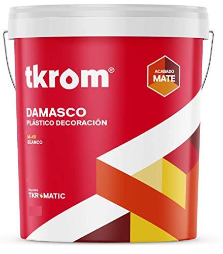 Pintura plástica interior-exterior TKROM Damasco M-40 (8 Litros)