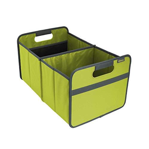 Faltbox Classic Large Kiwi Grün / Uni 32x50x27,5cm abwischbar stabil Polyester Kofferraumtasche Autobox Transportbox Lebensmittel Einkauf