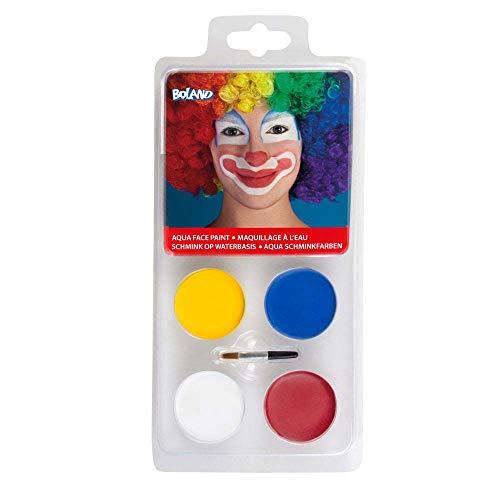 Set de maquillage à l'eau Clown - Taille Unique