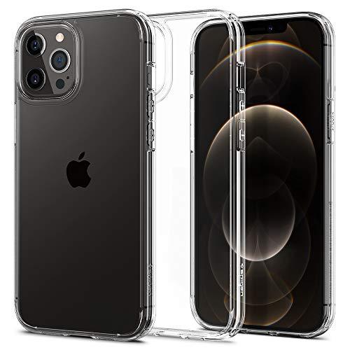 【Spigen】 iPhone 12 ケース/iPhone 12 Pro ケース 6.1インチ 対応 全面クリア 米軍MIL規格取得 耐衝撃 すり傷防止 ワイヤレス充電対応 アイフォン12 ケース アイフォン12プロケース カバー シュピゲン ウルトラ・ハイブリッド (クリスタル・クリア)
