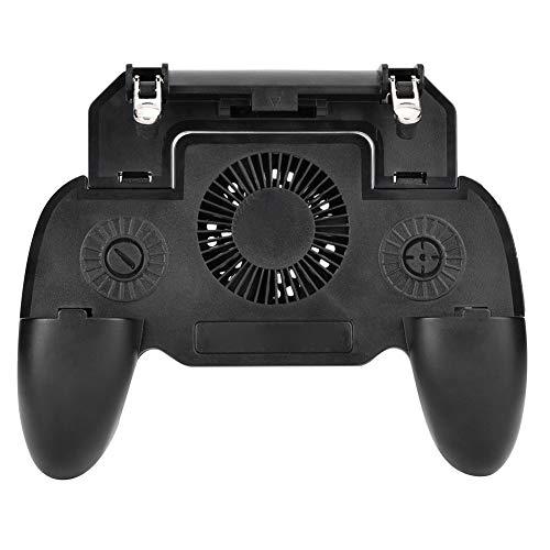 fasient Mobiler Controller mit Lüfter, mobilem Gaming-Trigger für PUBG/Fortnite/Überlebensregeln, Gaming Grip und Gaming-Joysticks für Android-iOS-Telefone mit 6,6 Zoll oder weniger