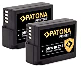 PATONA (2X) Protect V1 DMW-BLC12 E Akku (1010mAh) mit NTC-Sensor und V1 Gehäuse
