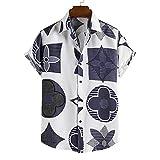SSBZYES Camisas para Hombres Camisas De Verano De Manga Corta Tops para Hombres Camisetas Camisas Casuales De Manga Corta para Hombres Camisas Sueltas De Gran Tamaño con Solapa Impresa