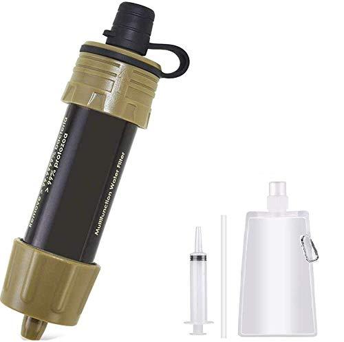 Lixada Filtro de Agua Portátil Sistema de Filtración de Agua Mini para Emergencia Supervivencia Acampada Viaje Mochilero 1/2pcs 5000L