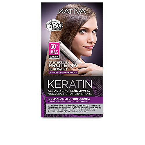 KATIVA Keratin Alisado Brasileño Express Kit 150 ml, Único, Estándar