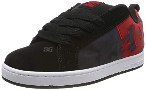 DC Shoes Herren Court Graffik Se - Low-top Shoes for Men Skateboardschuhe, Black/red/red, 41 EU