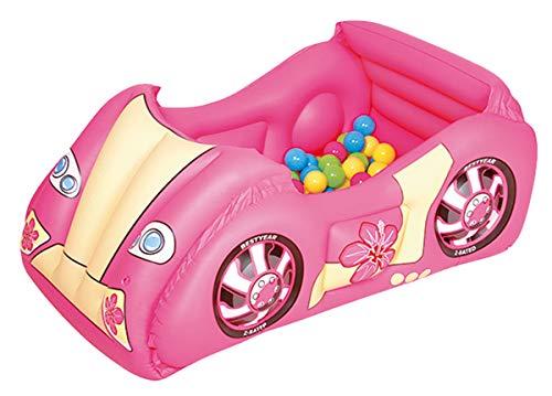 Bestway 52159 - Piscina de Bolas Hinchable Infantil Coche de Carrera 119x79x51 cm
