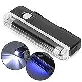 Detector de dinero, tubo de luz de onda larga de luz púrpura 4WT5, Principio de funcionamiento, DL-01 Portátil con pilas Luz ultravioleta Comprobador de billetes Comprobador de dinero Detector de dine