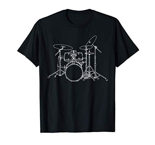 Batería Vintage Baterista Palos de tambor Rock & Roll Camiseta