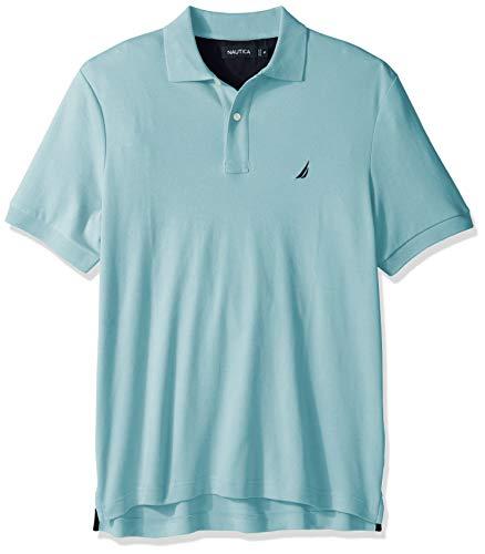 Nautica Men's Classic Fit Short Sleeve Solid Soft Cotton Polo Shirt, harbor mist, X-Large