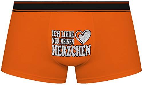 Herr Plavkin Geschenk für den Menschen | Ich Liebe nur Mein Herzchen | Weihnachten |orange Boxershorts