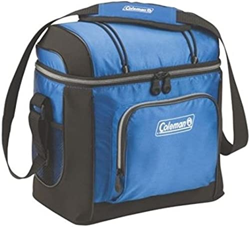 Coleman 16 Can Soft Cooler W/ Removable Hard Plastic Liner, Blue, 11.81 x 6.69 x 11.81 in