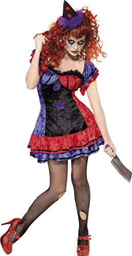 Smiffy di - Halloween Costume Circo Clown Donne, formato S (SM32246-S)