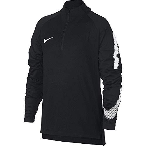 Nike Jungen Langarmshirt Breathe Squad Drill, Black/White, XS, 916125-012