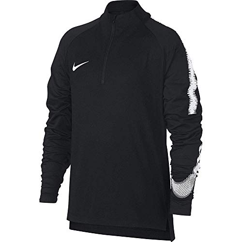 Nike Jungen Langarmshirt Breathe Squad Drill, Black/White, XS, 916125-012