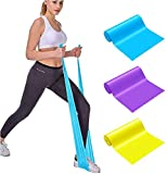 Emoly Professional Upgrade Resistance Bands, 3 PC Different Strengths of Exercise Bands, 5 ft. Long Latex Free Elastic Stretch Bands for Physical Therapy, Yoga, Pilates, Rehab, Home Workout