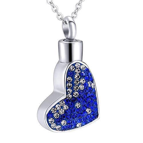 necklace Collar de Moda para Mujer Cristal Azul corazón Corte Colgante Torre de Oro Collar conmemorativo Colgante Bala Colgante Izar