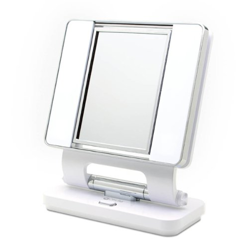 OttLite Makeup Mirror B41003 - 5x and 1x dual-sided magnification (White)